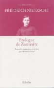 PROLOGUE DE ZOROASTRE